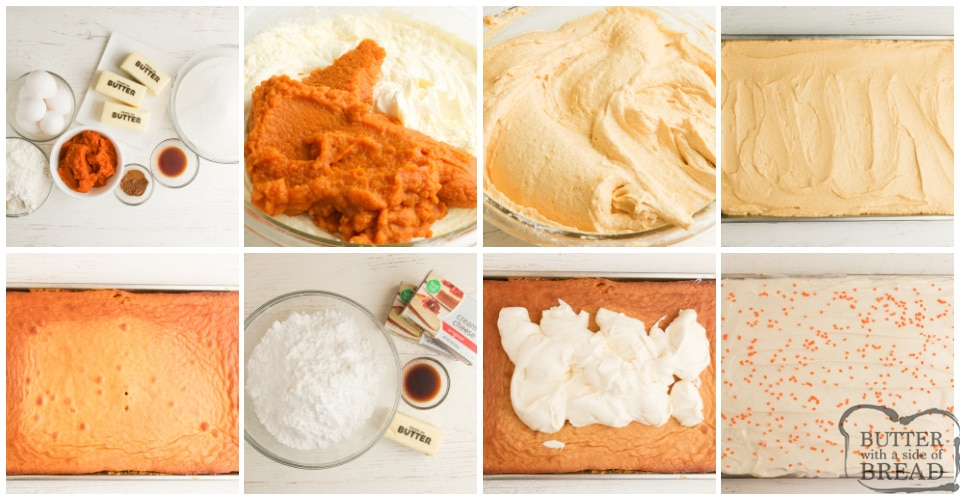 Step by step instructions on how to make Pumpkin Brownies