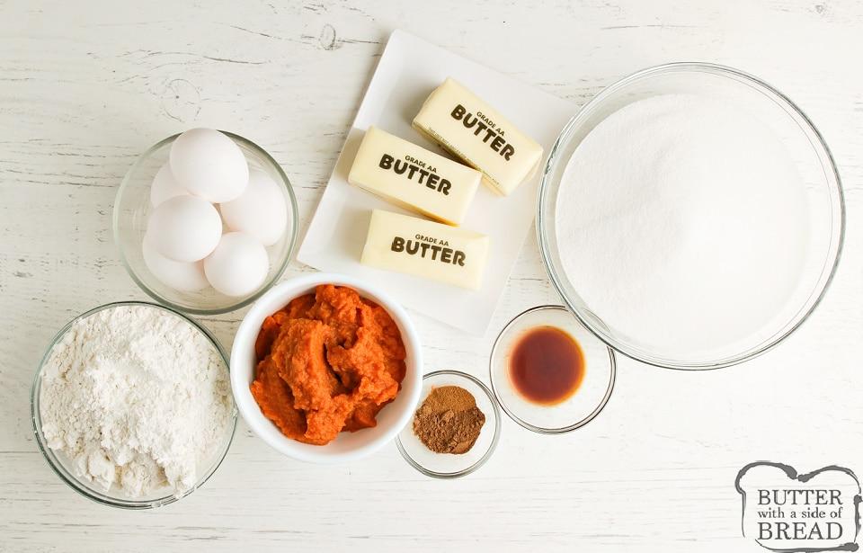 Ingredients in Pumpkin Brownies