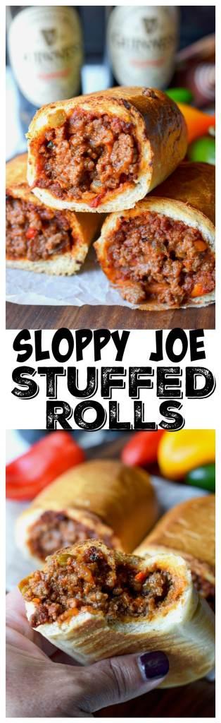 Sloppy joe stuffed rolls