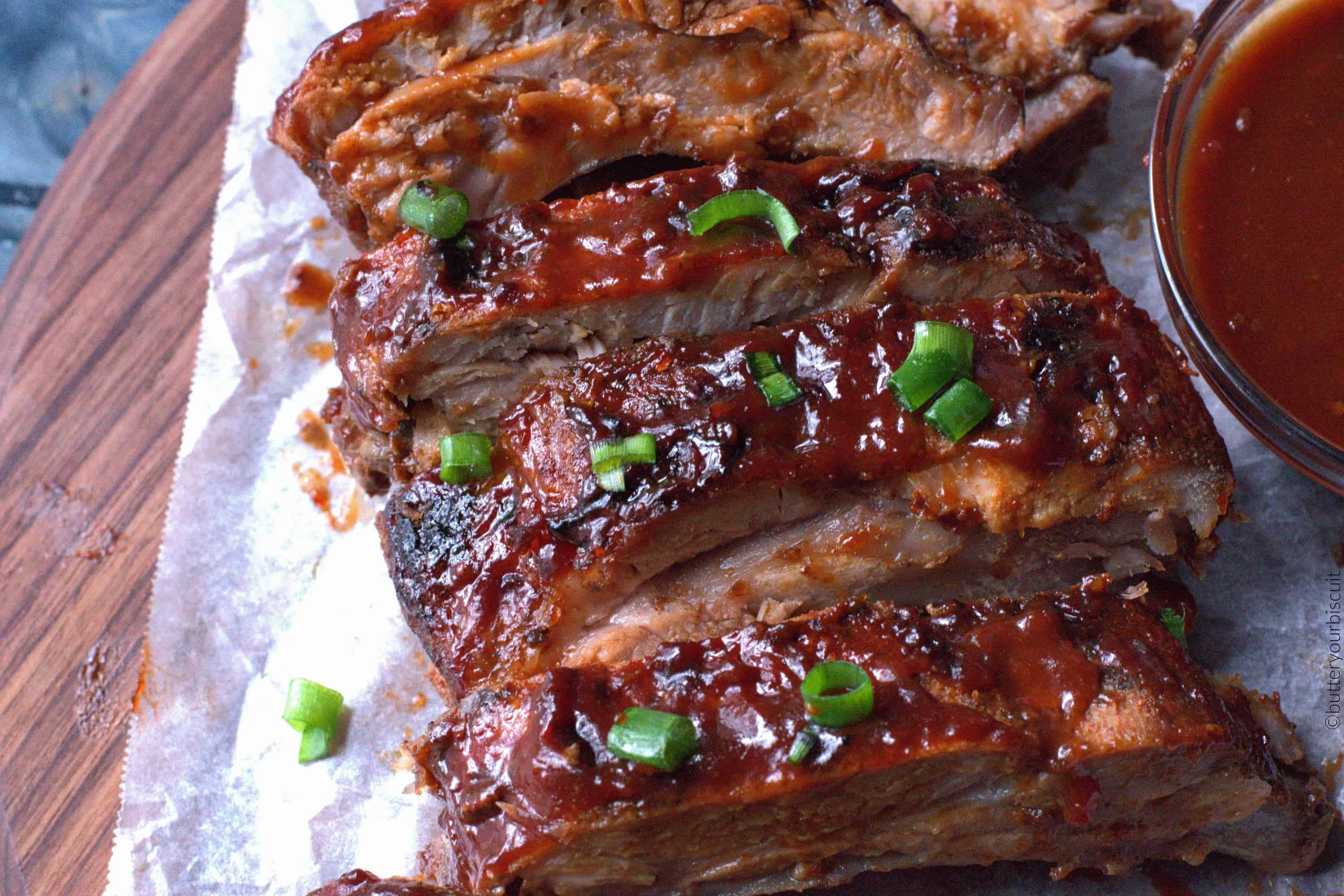 easy oven baked pork rib recipe butter your biscuit