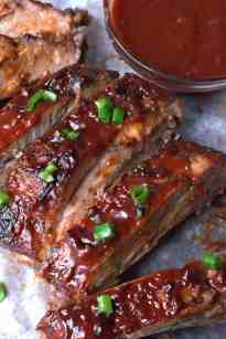 Easy Oven Bbq Baked Ribs Recipe Butter Your Biscuit