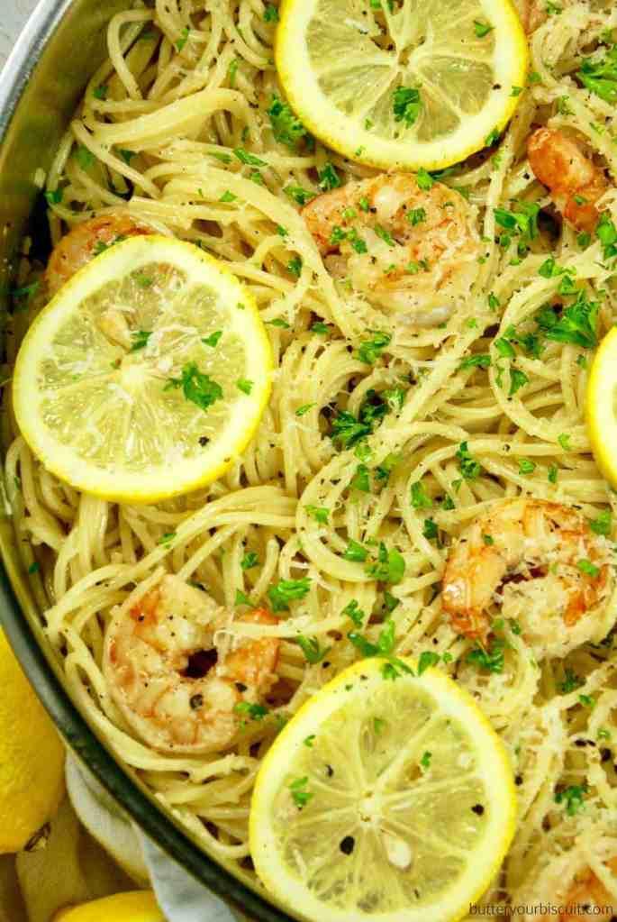 Lemon Garlic Shrimp and Pasta