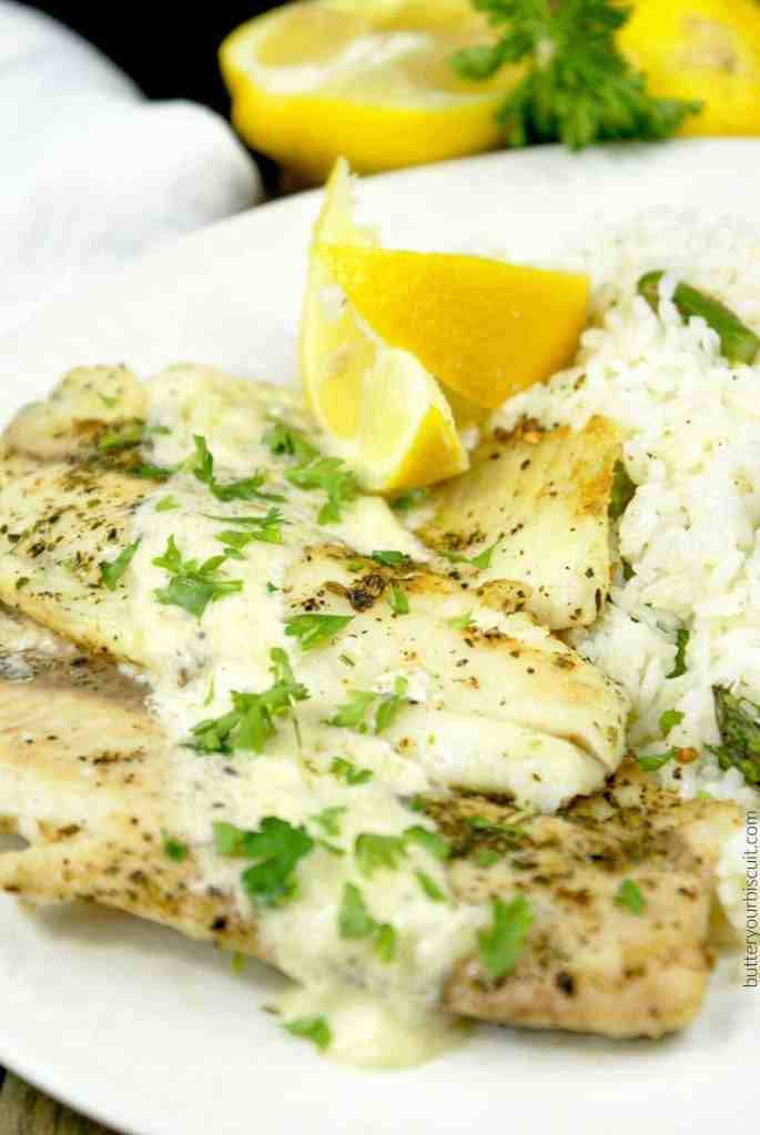 Pan-Seared Tilapia with Lemon Butter Sauce