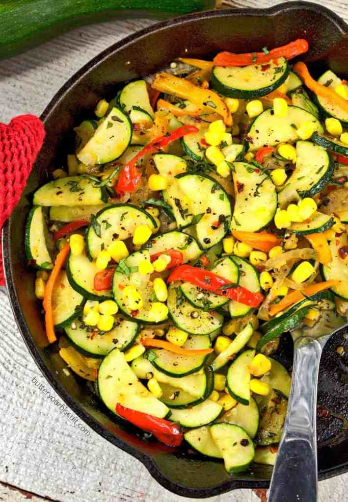 Zucchini and Sweet Pepper Saute