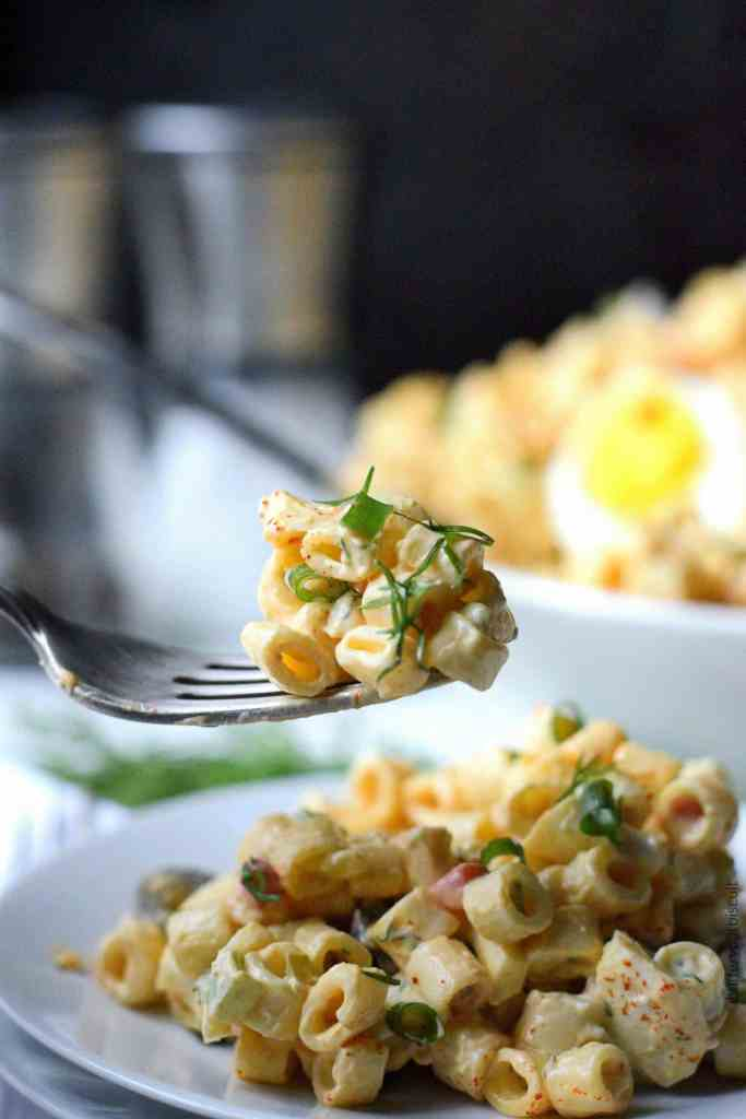 Deviled Egg Macaroni Salad Recipe Butter Your Biscuit