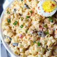 Deviled Egg Macaroni Salad