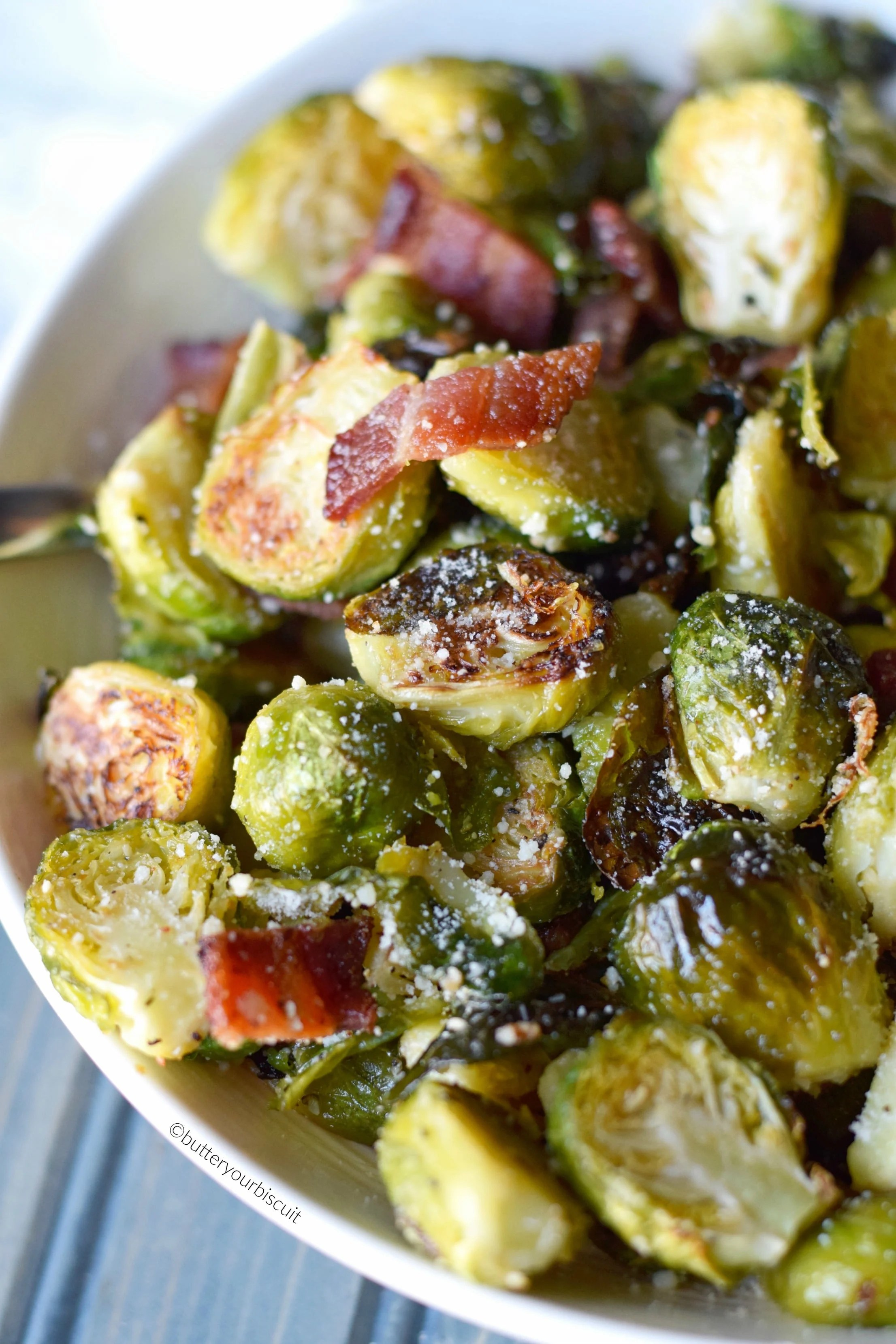 Parmesan Roasted Brussels Sprouts With Bacon Butter Your