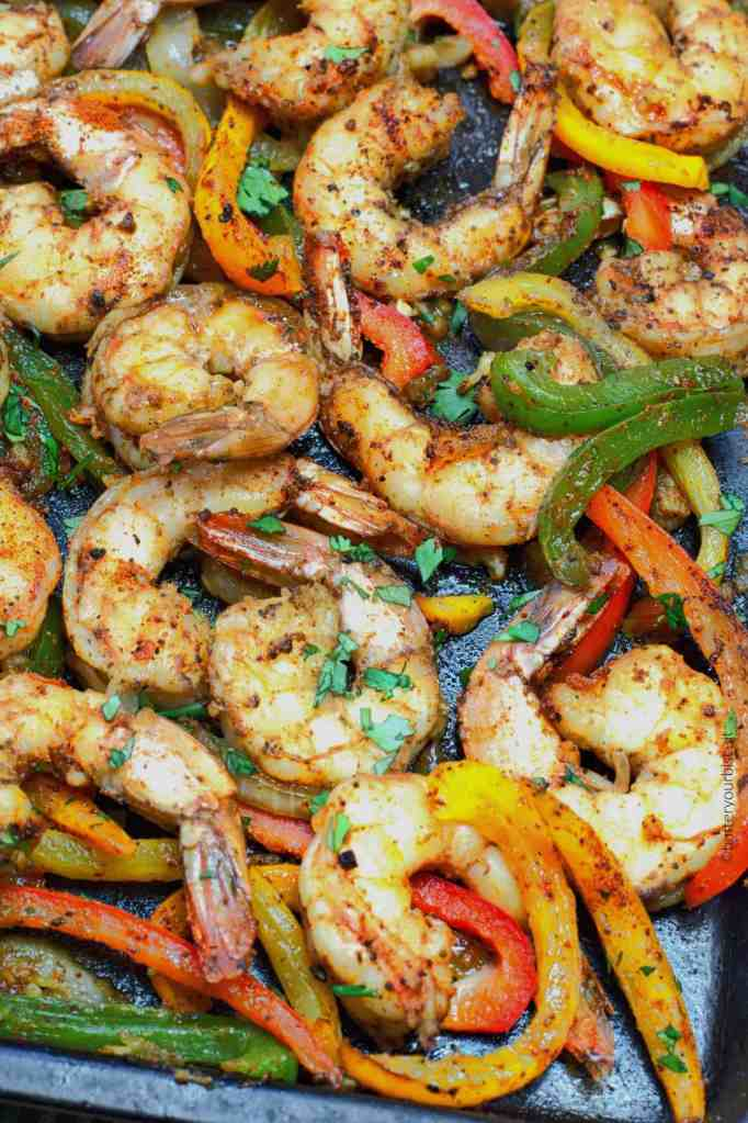 Spicy Cajun Shrimp Fajitas