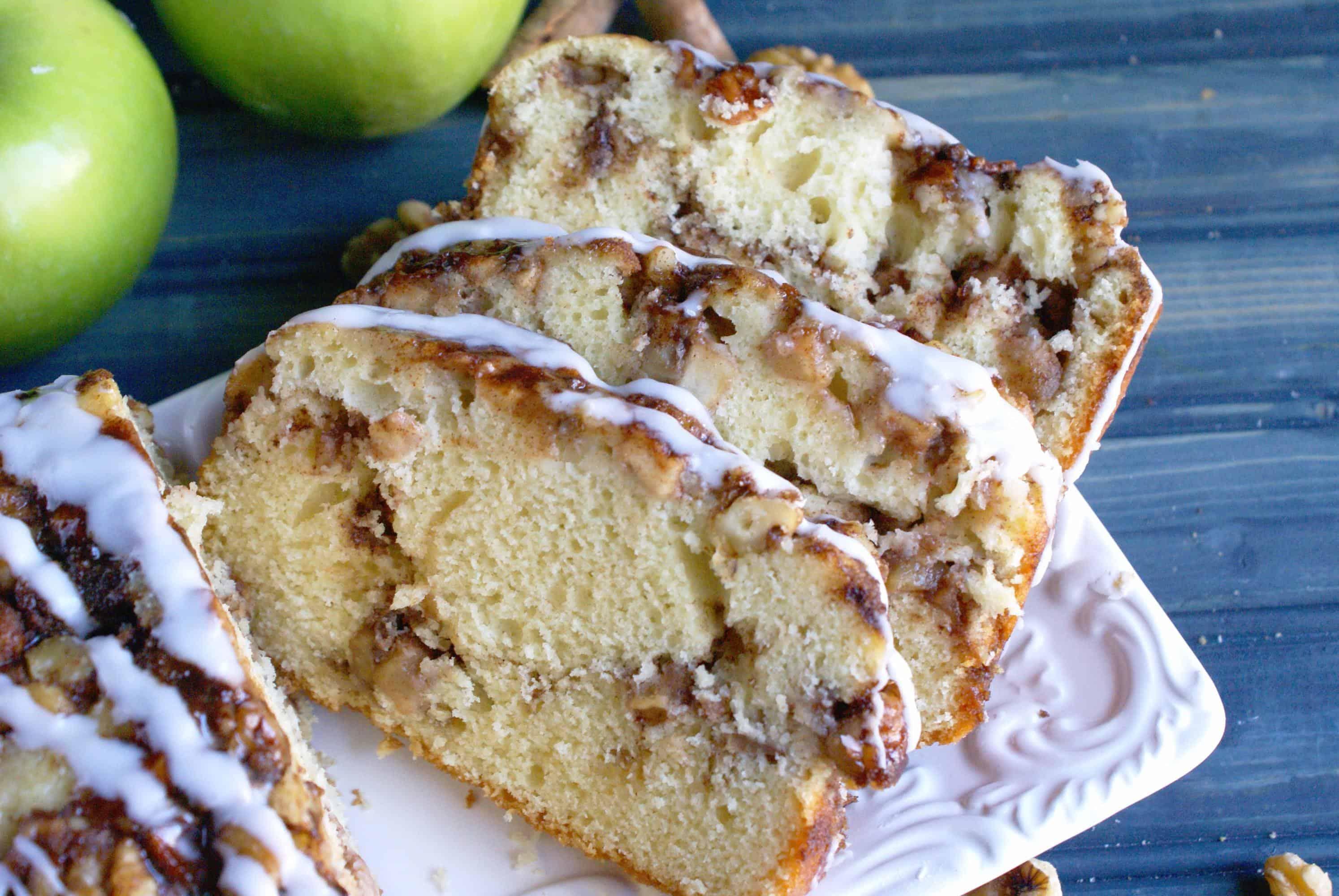 apple walnut fritter bread
