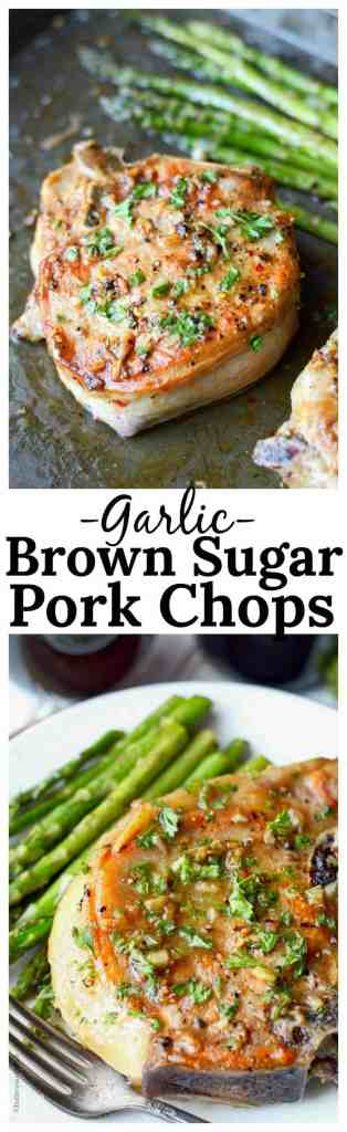 Garlic brown sugar pork chops