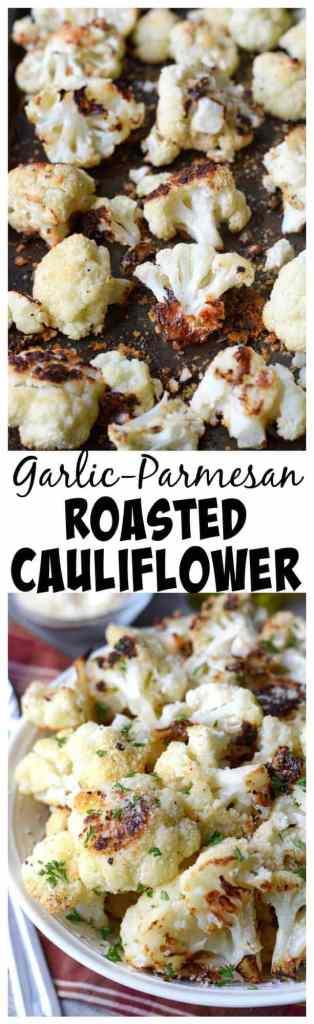 Garlic parmesan roasted cauliflower