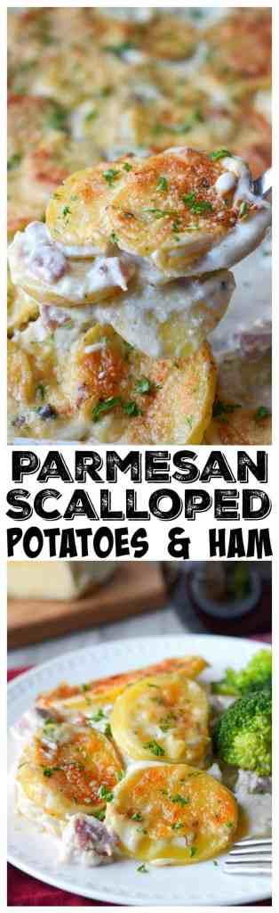 Parmesan Scalloped potatoes and ham