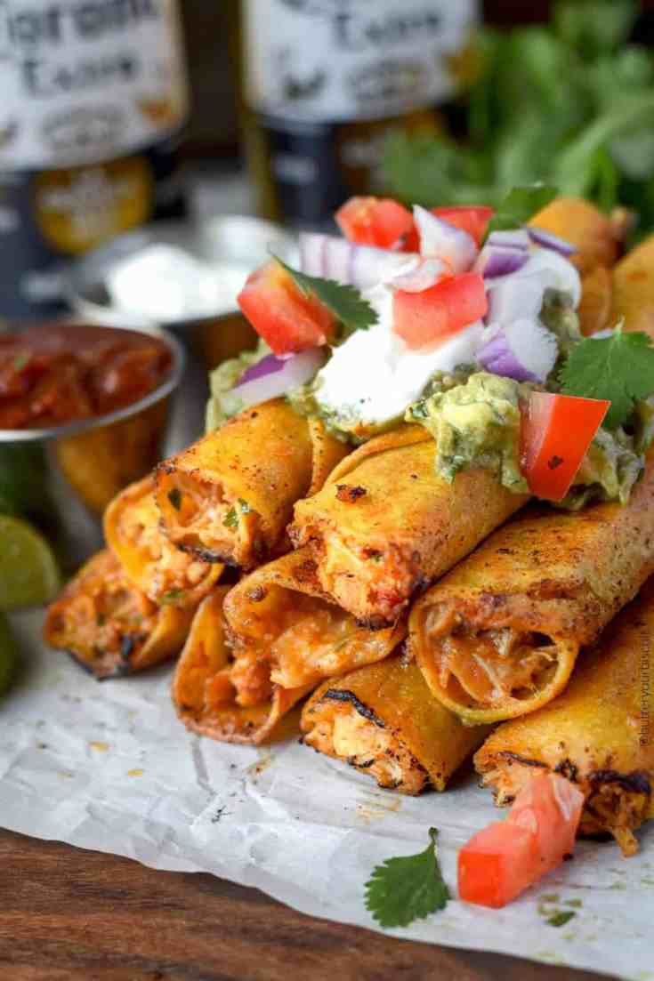 Chicken and Pepper Jack Taquitos