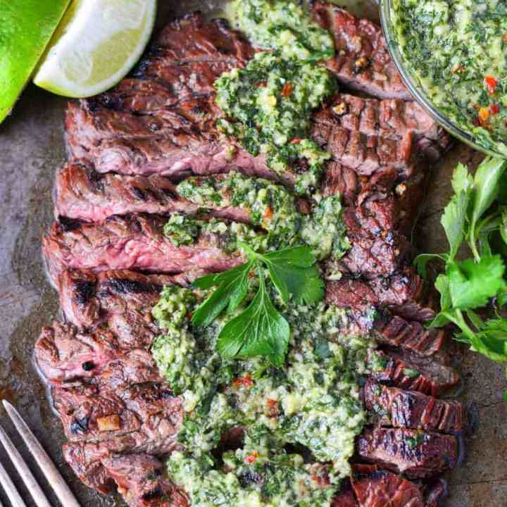 Grilled Skirt Steak with Chimichurri