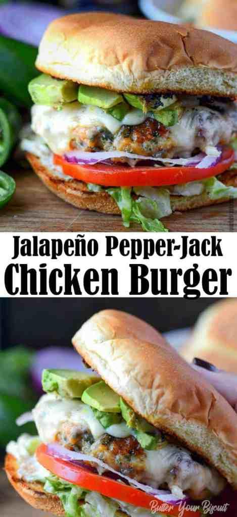 jalapeno pepper jack chicken burger
