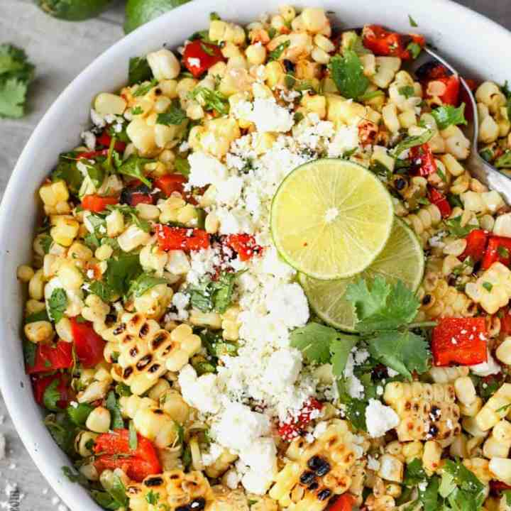 Grilled Mexican Chipotle Lime Corn Salad
