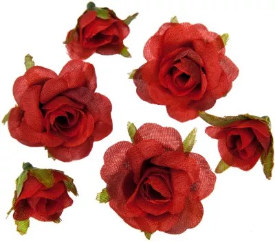 boutons de rose artificiels rouge 1 2 5 cm o 27 pieces
