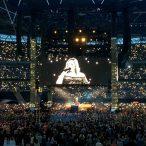 Adele performing at Wembley Stadium