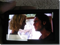 Caprica Six and Baltar talking on my Zune HD