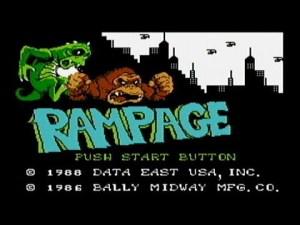 Rampage Start Screen