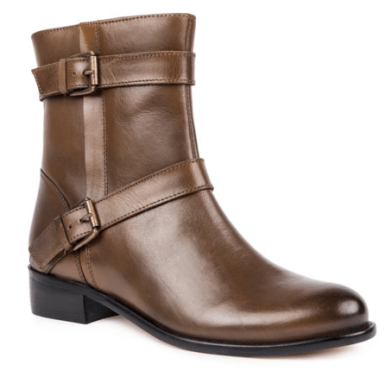 Tan leather buckle boot from Woolworths