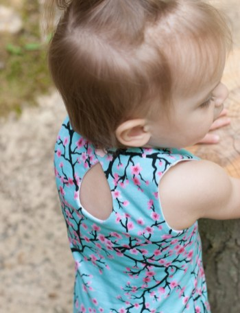 Danica Dress by Goober Pea Designs in Midnight Mountain Cherry Blossoms