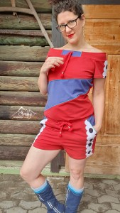 Red Suit, Red Linen - Cotton Lycra