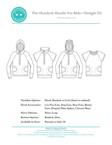 The Hemlock Hoodie for Kids - Straight Fit