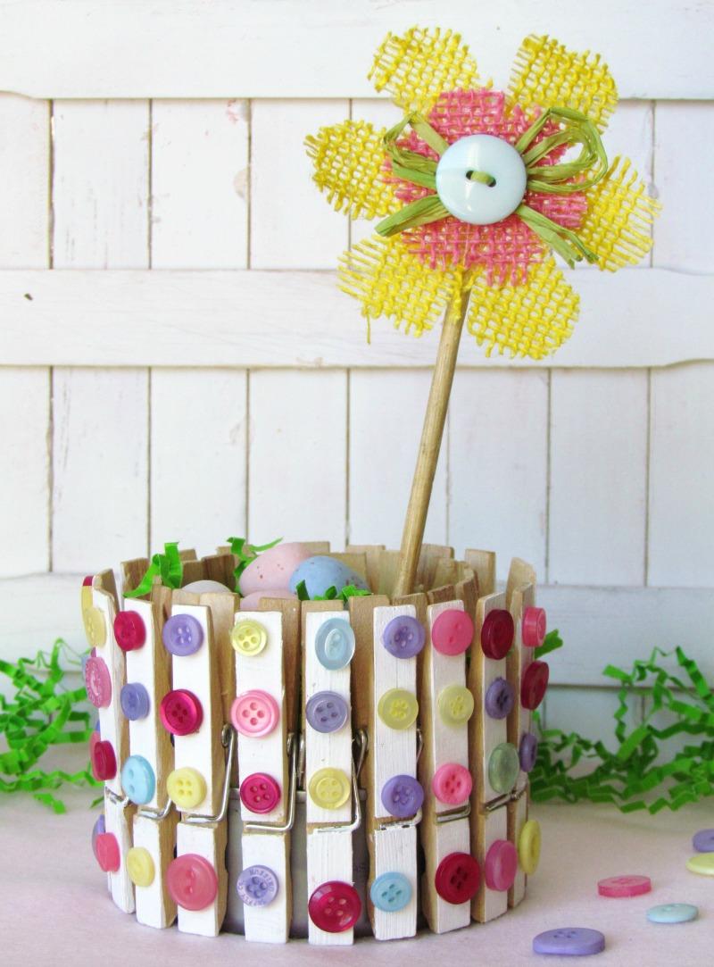 Clothespin craft - Spring Home Decor