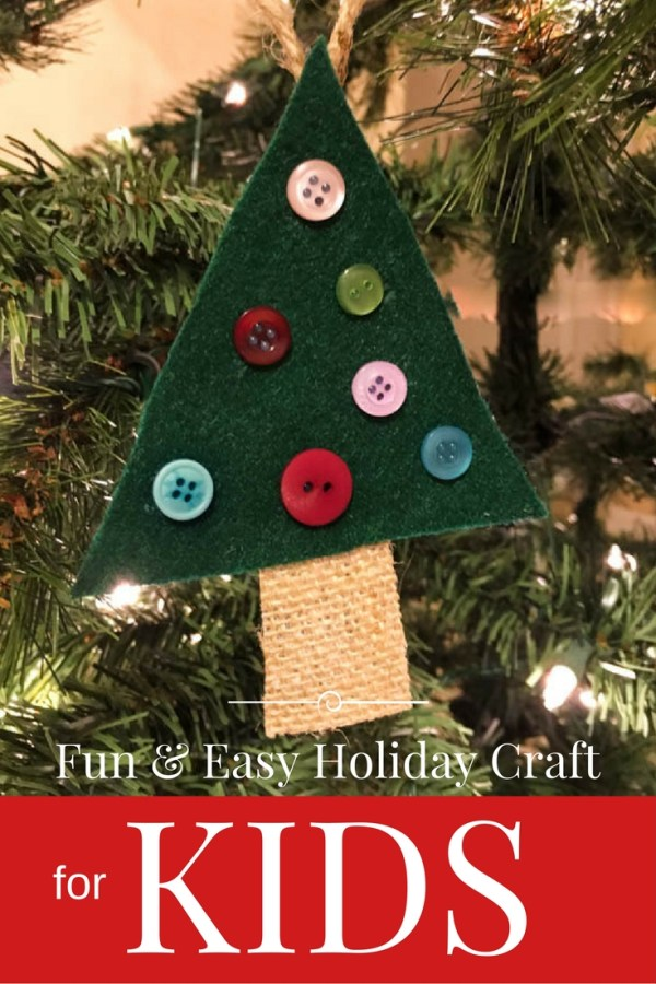 Decorate a Felt Christmas Tree Ornament with Buttons