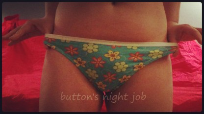 Cotton thong, blue flowered_edit2