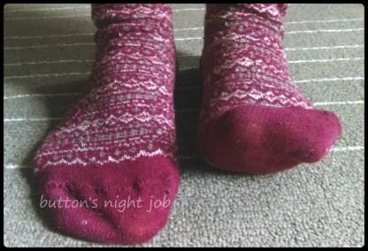 Socks, red pattern 2