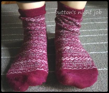 Socks, red pattern