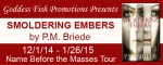 Smoldering Embers: An interview with PM Briede + #giveaway