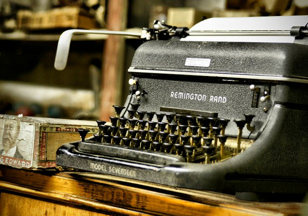"""Remington Typewriter"" image by Flickr user Tim Hamilton"