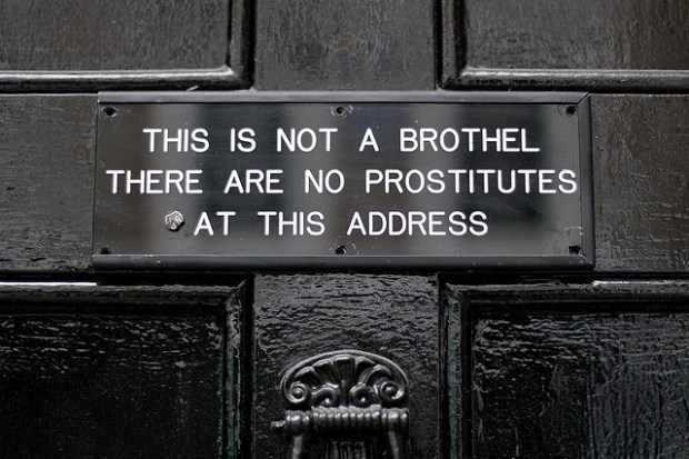 """This is not a brothel"" image by Flickr user Tom Coates"