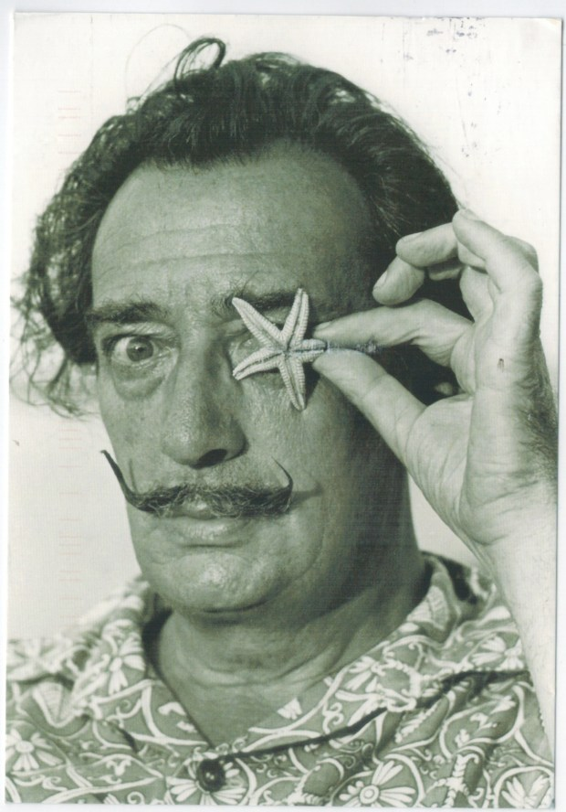 A Salvador Dalí postcard I recently received from a friend visiting Spain
