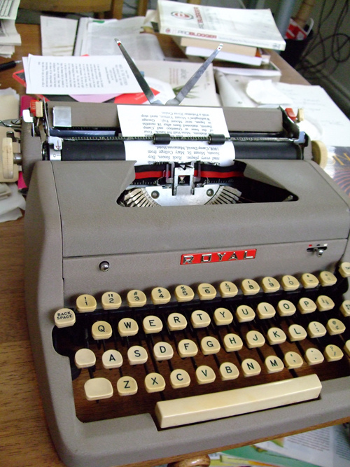 My own Royal Quiet DeLuxe typewriter.