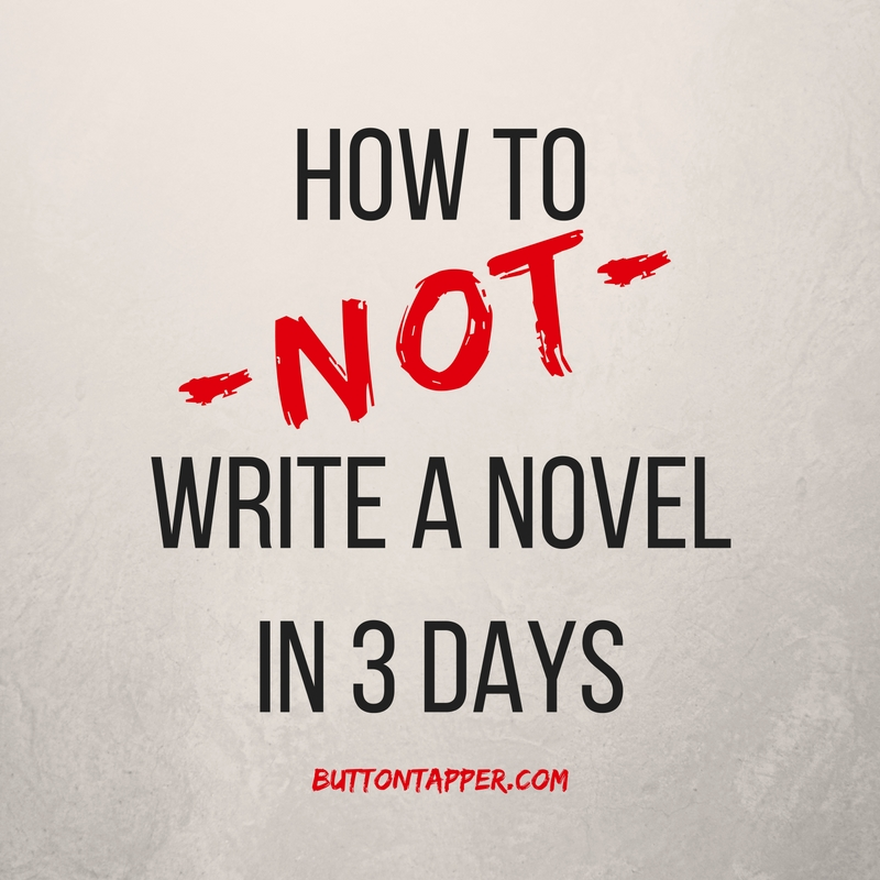 Are Write A Novel In 3 Days say Apple being
