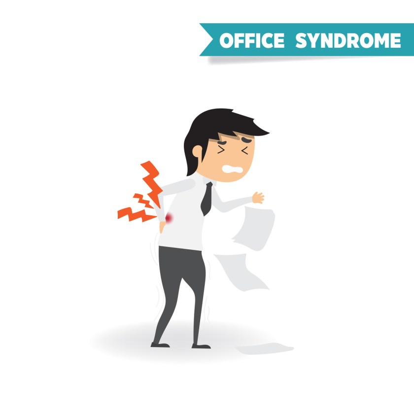 Office worker syndrome - man with back pain