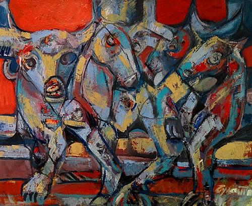 Izlozba slika Milana Bulatovica u hotelu Queen - 7