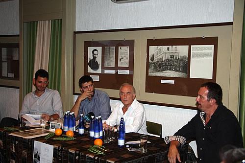 Učesnici - Dušan Medin, Goran Pajović, Petar Perović i mr Mladen Zagarčanin