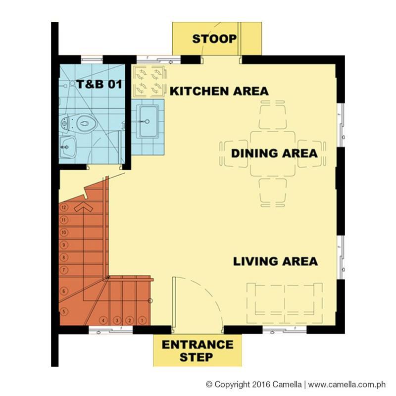 bella 1st floor plan