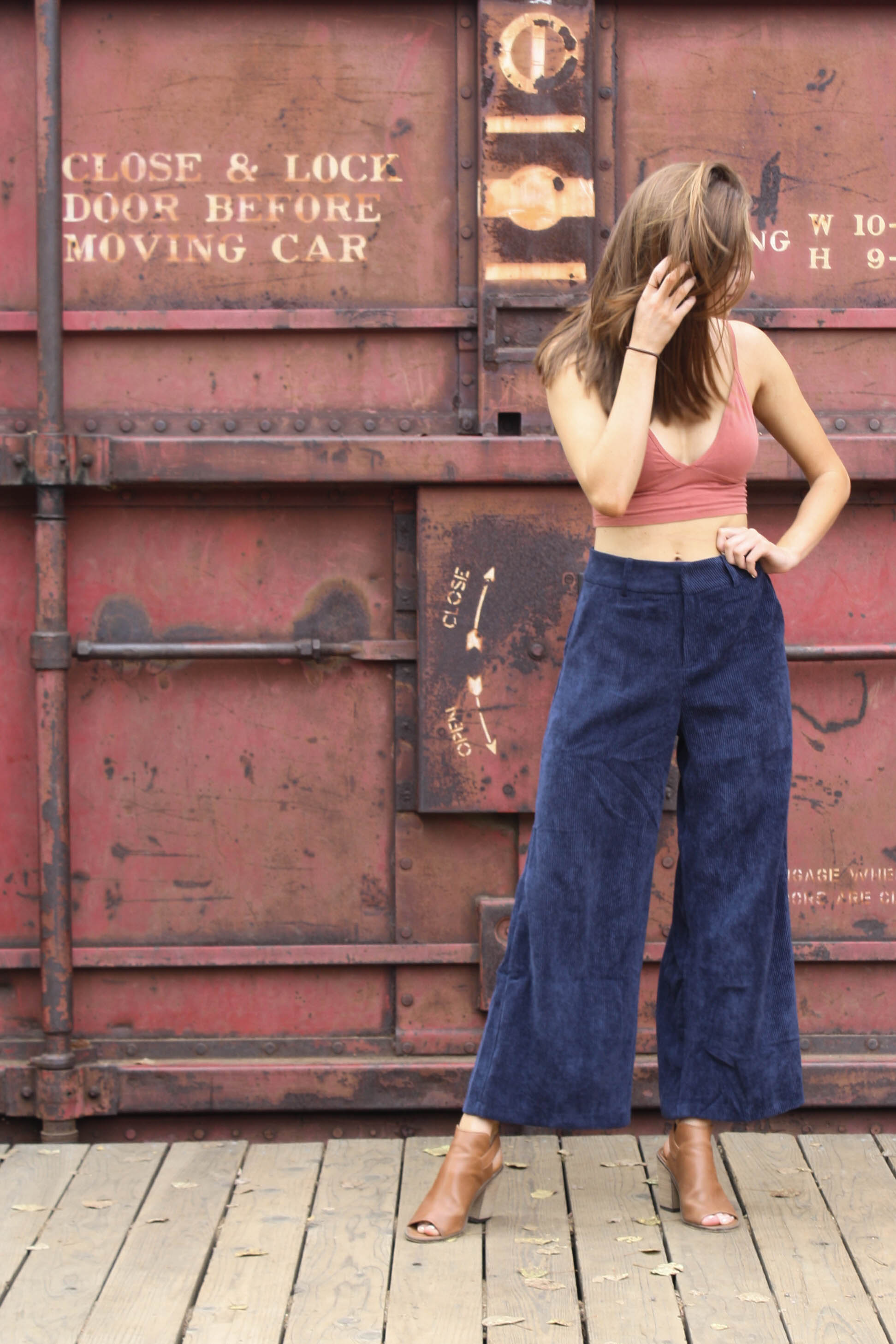 corduroy navy pants for fall fashion