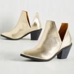 Mod Cloth gold metalic booties