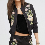 Embroidered floral bomber by ASOS