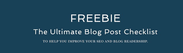 FREEBIE banner- the ultimate blog post check list