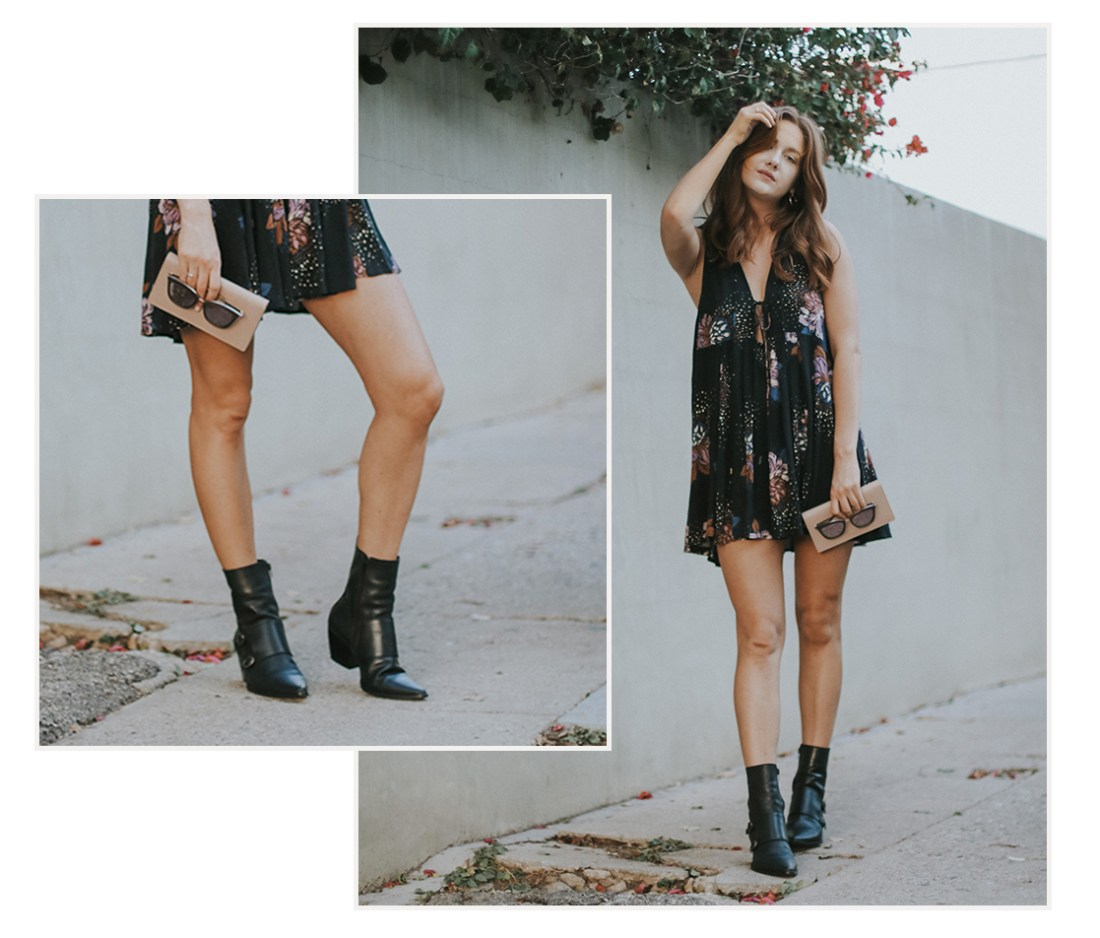 faux vegan leather booties - but what should i wear
