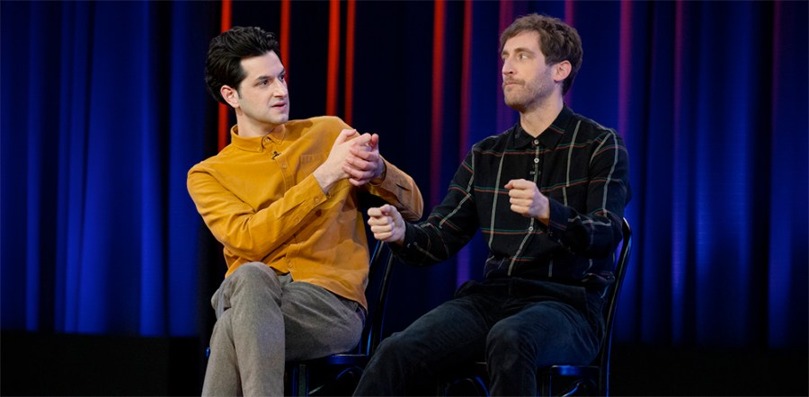 Middleditch and Schwartz during one of their sketches