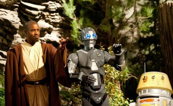 Master Kelleran Beq (Ahmed Best) with his Droid Companions AD-3 (Mary Holland) and LX-R5